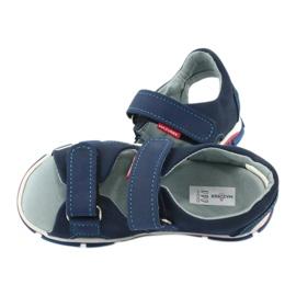 Sandale cu velcro Mazurek 314 bleumarin albastru marin 5