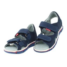 Sandale cu velcro Mazurek 314 bleumarin albastru marin 2