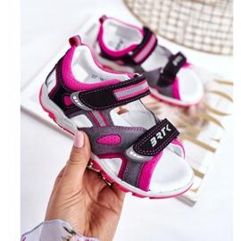 Bartek S.A. Sandale pentru copii pentru fete Profilactic Bartek T-16176-7 / 77G negru roz gri 2