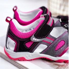 Bartek S.A. Sandale pentru copii pentru fete Profilactic Bartek T-16176-7 / 77G negru roz gri 4