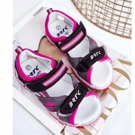 Bartek S.A. Sandale pentru copii pentru fete Profilactic Bartek T-16176-7 / 77G negru roz gri 5