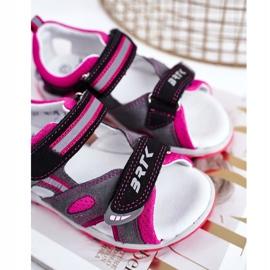 Bartek S.A. Sandale pentru copii pentru fete Profilactic Bartek T-16176-7 / 77G negru roz gri 3