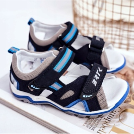 Bartek S.A. Sandale pentru copii pentru băieți Profilactic Bartek T-16176-7 / 0KP albastru marin 2