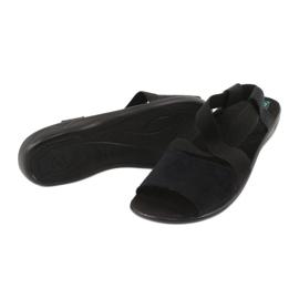 Sandale negre pentru femei Adanex 17498 negru 3