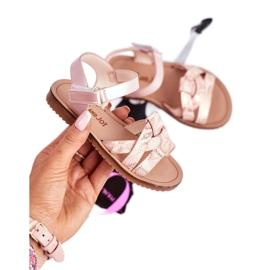 FRROCK Sandale pentru copii cu velcro pentru fete roz Lilo 2