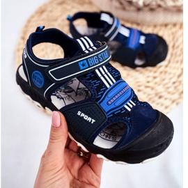 Sandale pentru copii Big Star With Velcro Blue Navy FF374211 albastru marin albastru 2