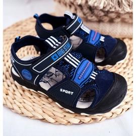 Sandale pentru copii Big Star With Velcro Blue Navy FF374211 albastru marin albastru 1