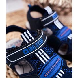 Sandale pentru copii Big Star With Velcro Blue Navy FF374211 albastru marin albastru 5