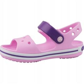 Crocs Crocband Sandal Kids 12856-6AI negru roz 1