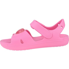 Sandală Crocs Classic Cross-Strap K 206245-669 negru roz 1