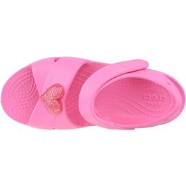 Sandală Crocs Classic Cross-Strap K 206245-669 negru roz 2