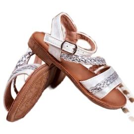 FRROCK Sandale Kremo pentru copii argintii gri 2