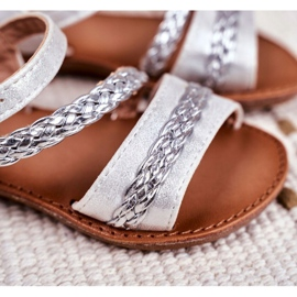 FRROCK Sandale Kremo pentru copii argintii gri 3