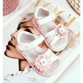 Apawwa Sandale pentru copii cu Velcro Flower Pink Mino roz 1