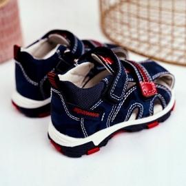 Apawwa Sandale pentru copii cu Velcro Navy Goreno albastru marin 1