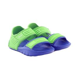 Sandale American Club pentru apă albastru verde 4