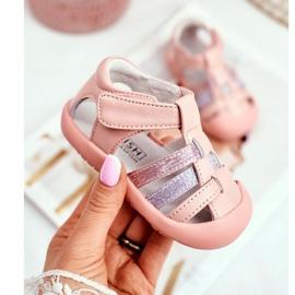 Apawwa Sandale pentru copii cu Velcro Glitter Pink Ontario roz 1
