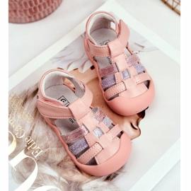 Apawwa Sandale pentru copii cu Velcro Glitter Pink Ontario roz 2