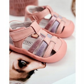 Apawwa Sandale pentru copii cu Velcro Glitter Pink Ontario roz 3