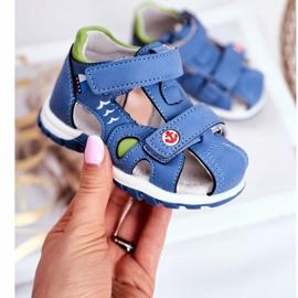 Apawwa Sandale pentru copii cu velcro albastru Nubira 2