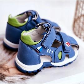 Apawwa Sandale pentru copii cu velcro albastru Nubira 3