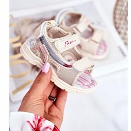 PL1 Sandale pentru copii cu velcro Beżowe Grobino bej 1