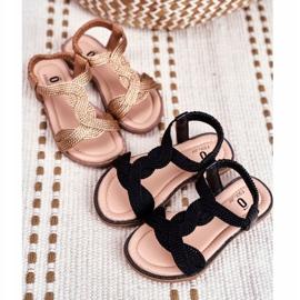 FRROCK Sandale Lamado negre pentru copii negru 1