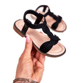 FRROCK Sandale Lamado negre pentru copii negru 2