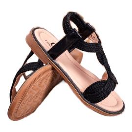 FRROCK Sandale Lamado negre pentru copii negru 3