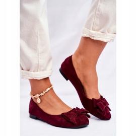 SEA Pantofi de balerină pentru femei Jordos roșu 2