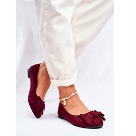 SEA Pantofi de balerină pentru femei Jordos roșu 3