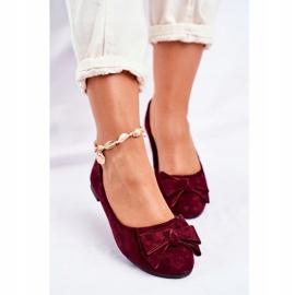 SEA Pantofi de balerină pentru femei Jordos roșu 4