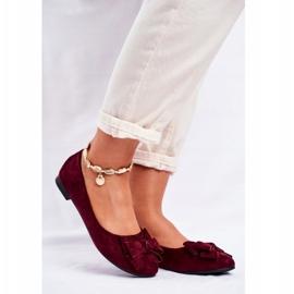 SEA Pantofi de balerină pentru femei Jordos roșu 1