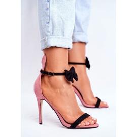 SEA Sandale pentru femei de pe iepurele cu toc înalt, Iepurasul de miere roz 2