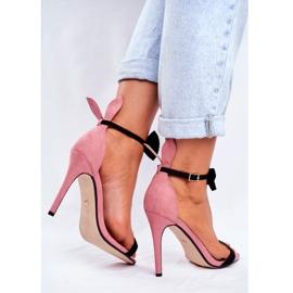 SEA Sandale pentru femei de pe iepurele cu toc înalt, Iepurasul de miere roz 3