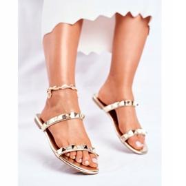 SEA Papuci pentru femei Mules Gold Merrados galben 3