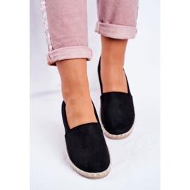 NEWS Espadrilele cu pantofi negri negru 4