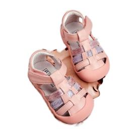 Apawwa Sandale pentru copii cu Velcro Glitter Pink Ontario roz gri 2