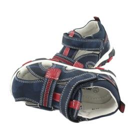Apawwa Sandale pentru copii cu Velcro Navy Goreno roșu albastru marin 4