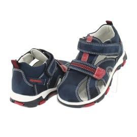 Apawwa Sandale pentru copii cu Velcro Navy Goreno roșu albastru marin 3