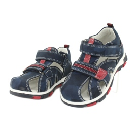 Apawwa Sandale pentru copii cu Velcro Navy Goreno roșu albastru marin 2