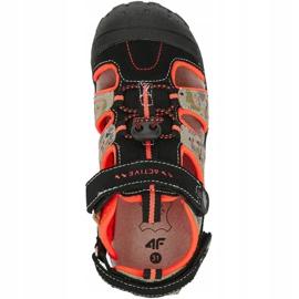 Sandale 4F Jr HJL20 JSAM002 90S negru portocale multicolor 1