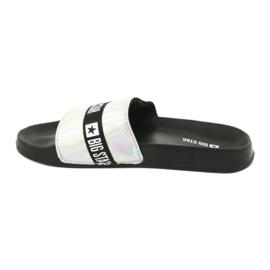 Papuci pentru femei HOLO Big Star 274A005 negru gri 1