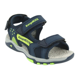 Sandale KangaRoos 18337 insert din spumă albastru marin verde 1
