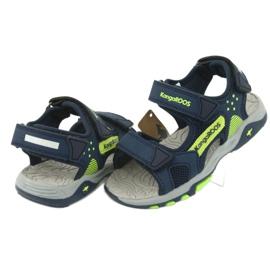 Sandale KangaRoos 18337 insert din spumă albastru marin verde 4