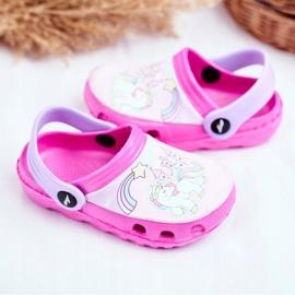 Papuci pentru copii Foam Crocs Ponei roz Ponei 3