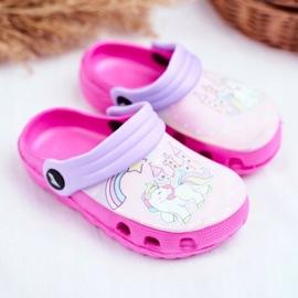 Papuci pentru copii Foam Crocs Ponei roz Ponei 1