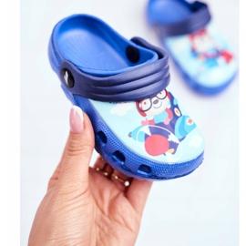 Papuci pentru copii Foam Crocs Blue Bear Pilot SuperFly albastru 3