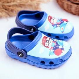 Papuci pentru copii Foam Crocs Blue Bear Pilot SuperFly albastru 2