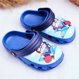 Papuci pentru copii Foam Crocs Blue Bear Pilot SuperFly albastru 1
